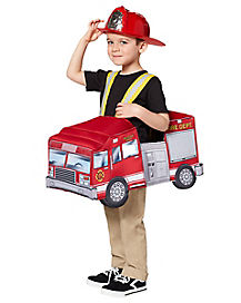 Toddler Light Up Firetruck Piggyback Costume