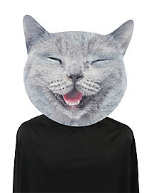 Big Head Smiling Cat Mask