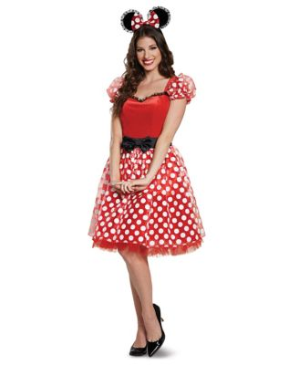 1950s Costumes- Poodle Skirts, Grease, Monroe, Pin Up, I Love Lucy Adult Minnie Mouse Costume Deluxe - Disney by Spirit Halloween $49.99 AT vintagedancer.com