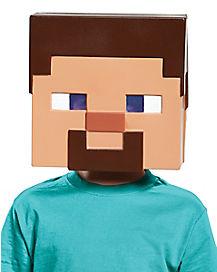 Kids Steve Mask - Minecraft