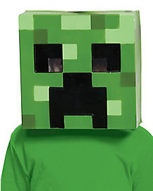 Kids Creeper Mask - Minecraft