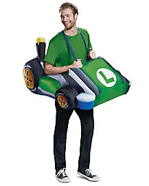 Adult Luigi Kart Inflatable Costume - Mario Kart