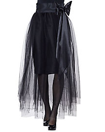 Black Tulle Skirt with Sash