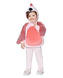 Baby Faux Fur Flamingo Costume