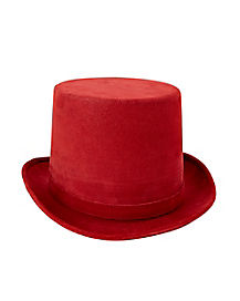 Deluxe Burgundy Top Hat