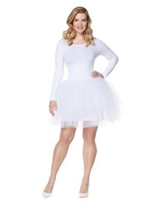 Adult White Starter Tutu Dress - Spirithalloween.com