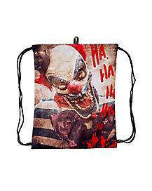 Scary Clown Cinch Bag