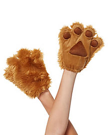 Kids Fuzzy Brown Paws