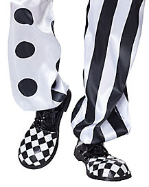 Kids Black and White Clown Shoes