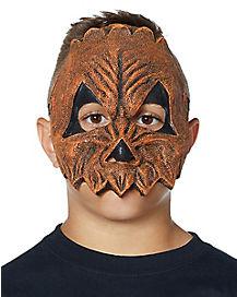 Kids Scary Pumpkin Half Mask