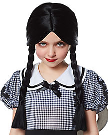 Kids Black Braided Wig