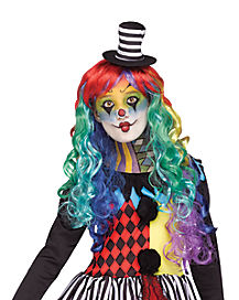Kids Rainbow Curly Wig