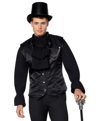 Men's Steampunk Vests, Waistcoats, Corsets Striped Victorian Vampire Vest by Spirit Halloween $49.99 AT vintagedancer.com