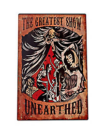 1.5 Ft Greatest Show Carnival Sign - Decorations