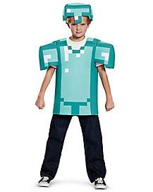 Kids Armor Shirt Set - Minecraft