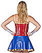 Faux Leather Wonder Woman Corset - DC Comics