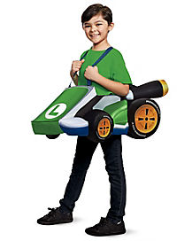 Kids Luigi Ride-A-Long Costume - Mario Bros