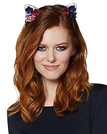 Multi Rose Cat Ear Headband