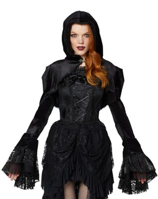 Steampunk Jacket | Steampunk Coat, Overcoat, Cape Hooded Capelet Jacket by Spirit Halloween $39.99 AT vintagedancer.com