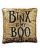 Reversible Sequined Binx Pillow - Hocus Pocus