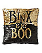 Reversible Sequined Binx Pillow - Hocus Pocus