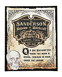 Sanderson Museum of Witchcraft Canvas Decorations - Hocus Pocus