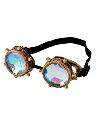 Retro Sunglasses | Vintage Glasses | New Vintage Eyeglasses Steampunk Kaleidoscope Goggles by Spirit Halloween $12.99 AT vintagedancer.com