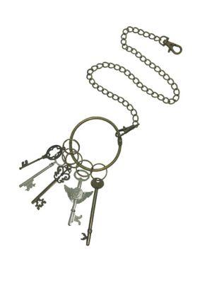 Steampunk Jewelry – Necklace, Earrings, Cuffs, Hair Clips Steampunk Key Waist Chain by Spirit Halloween $12.99 AT vintagedancer.com