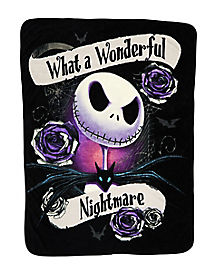wonderful nightmare fleece blanket the nightmare before christmas