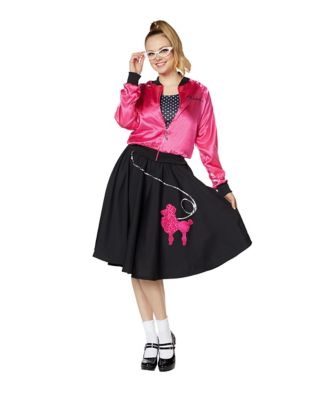 1950s Costumes- Poodle Skirts, Grease, Monroe, Pin Up, I Love Lucy Adult Pink Sweeties Costume by Spirit Halloween $44.99 AT vintagedancer.com