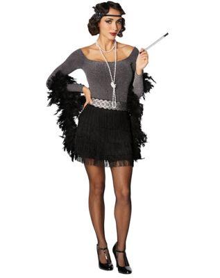 Roaring 20s Costumes- Flapper Costumes, Gangster Costumes Flapper Costume Kit by Spirit Halloween $24.99 AT vintagedancer.com
