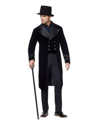 Men's Steampunk Costume Essentials Victorian Vampire Jacket $59.99 AT vintagedancer.com