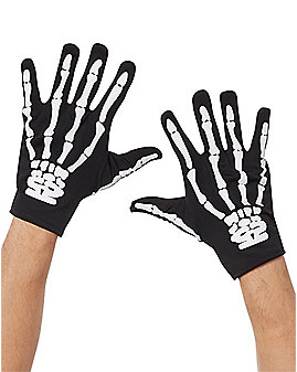 Black Skeleton Gloves