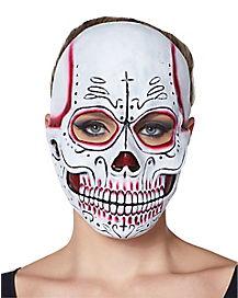 Red Sugar Skull Mask