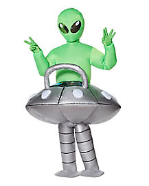 Adult Light Up UFO Alien Inflatable Costume