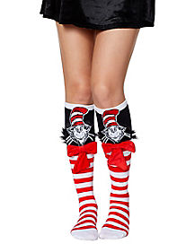 3D Cat in the Hat Socks - Dr. Seuss