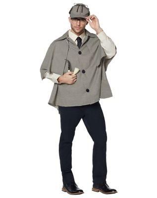 Victorian Men's Costumes: Mad Hatter, Rhet Butler, Willy Wonka Mens Detective Costume by Spirit Halloween $39.99 AT vintagedancer.com