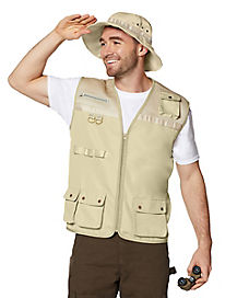 Adult Safari Vest Costume Kit