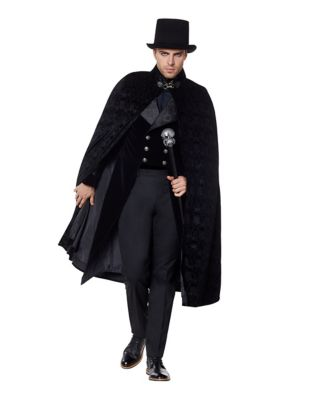 Men's Steampunk Jackets, Coats & Suits Victorian Vampire Cape by Spirit Halloween $49.99 AT vintagedancer.com