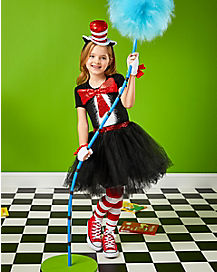 Kids Cat In The Hat Dress Costume