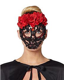 Lace Sugar Skull Mask