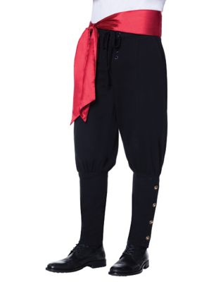Men's Vintage Style Pants, Trousers, Jeans, Overalls Pirate Pants and Sash by Spirit Halloween $34.99 AT vintagedancer.com