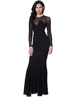 Mesh Flare Bottom Dress