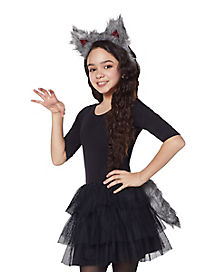 Kids Faux Fur Wolf Costume Kit