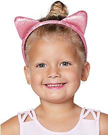 Kids Pink Cat Ear Headband
