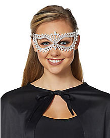 Rhinestone Pearl Eye Mask