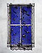 Light Up Lace Spider Web Window Curtain - Decorations