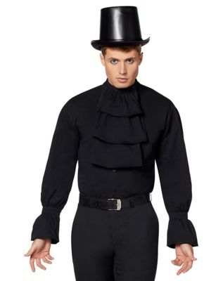 Steampunk Mens Shirts Black Vampire Shirt by Spirit Halloween $34.99 AT vintagedancer.com
