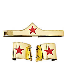 Adult Wonder Woman Tiara Gauntlet Set - DC Comics