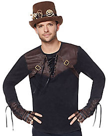 Lace Up Steampunk Shirt